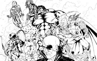 Fanart Avengers - by Pau Gámez