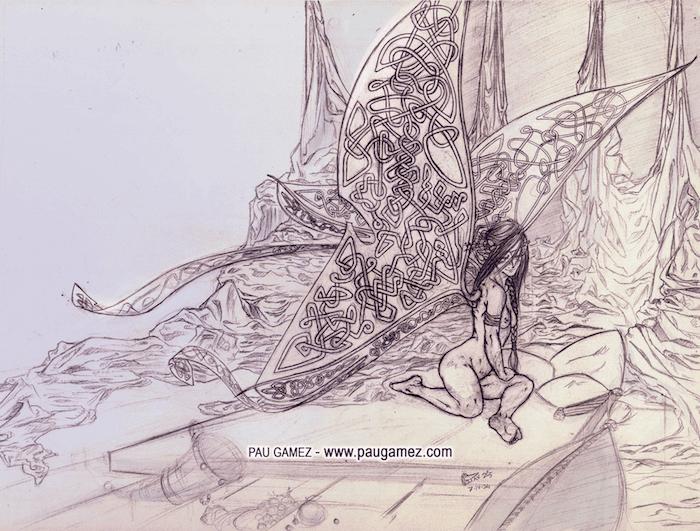 Ilustración Ninfa Céltica - by Pau Gámez