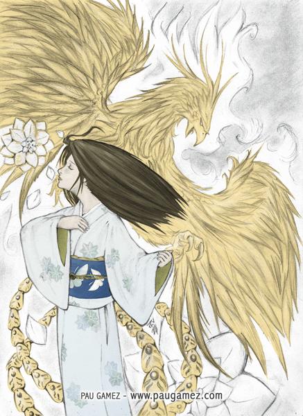 Ilustración Fire Lotus - by Pau Gámez