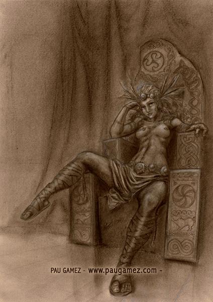 Ilustración Valkiria - by Pau Gámez