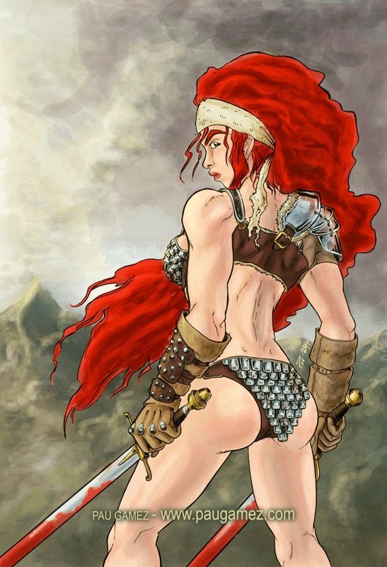 Fanart Red Sonja - by Pau Gámez