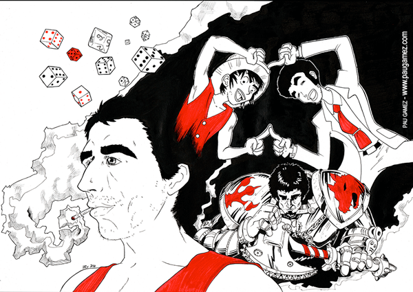 Retrato caricaturas Toni - by Pau Gámez