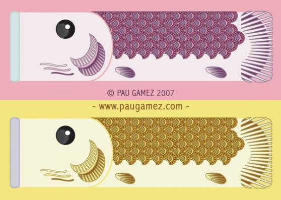 serie carpas amarilla y violeta