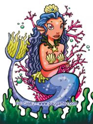 Ilustración Reina Sirena - by Pau Gámez