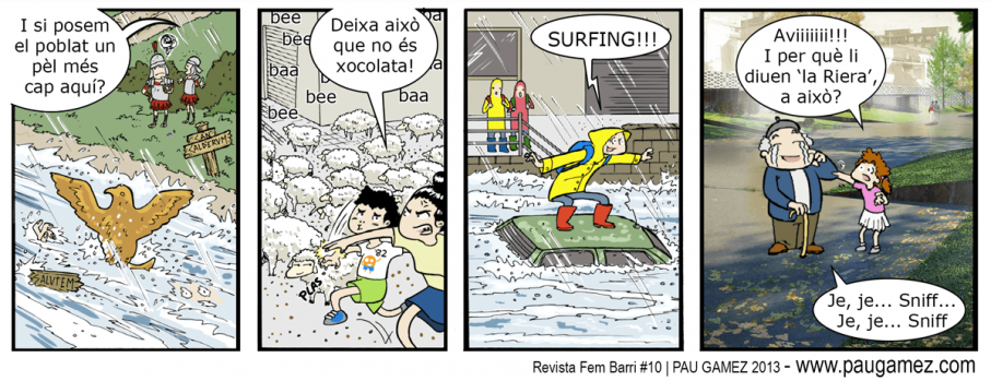 Tira cómica - revista Fem Barri 10# - by Pau Gámez