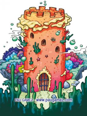 Ilustración Torre de Coral - by Pau Gámez