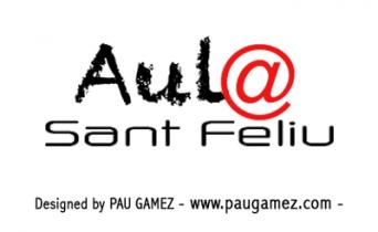 Logotipo Aula Sant Feliu - by Pau Gámez