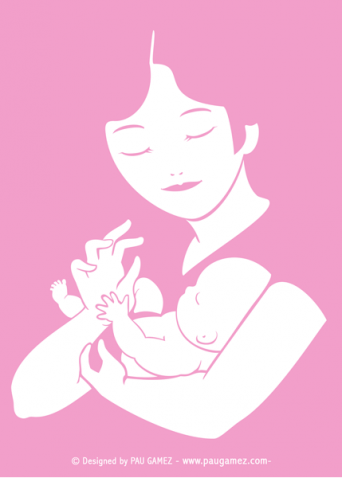 Postal Dia de la madre - by Pau Gámez