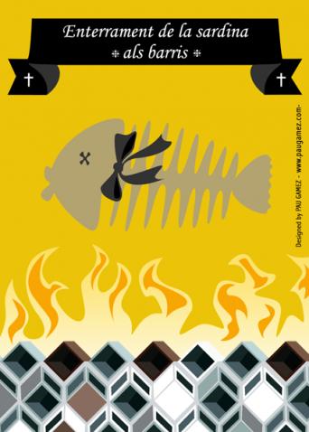 Postal Dia de la sardina - by Pau Gámez