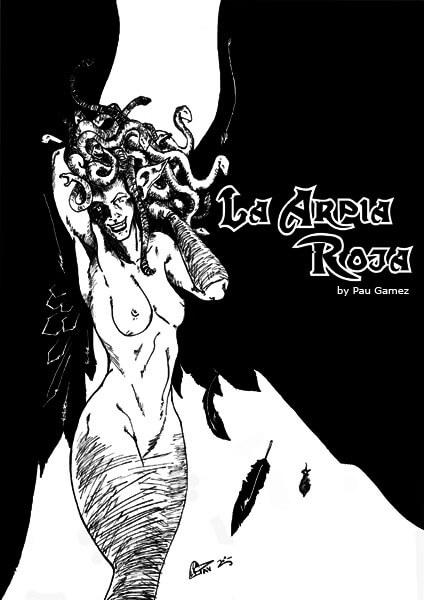 La Arpía roja - portada - by Pau Gamez