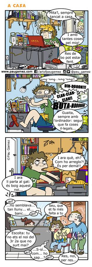 trabajar en casa - by Pau Gamez