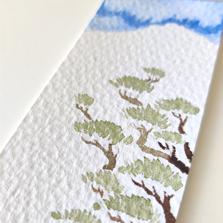 watercolors bookmark matsu by paugamez