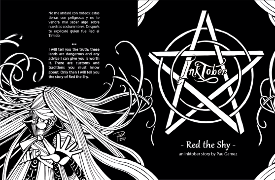 Red tht Shy by Pau Gamez, an Inktober story - cover and back