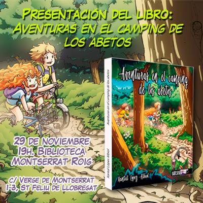 Presentacon del libro Aventuras en el Camping de los abetos