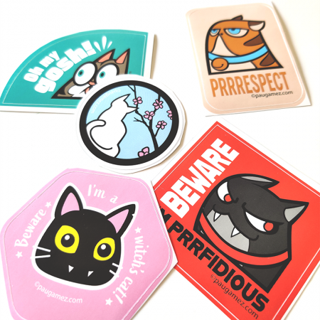stickers de gatos by pau gamez