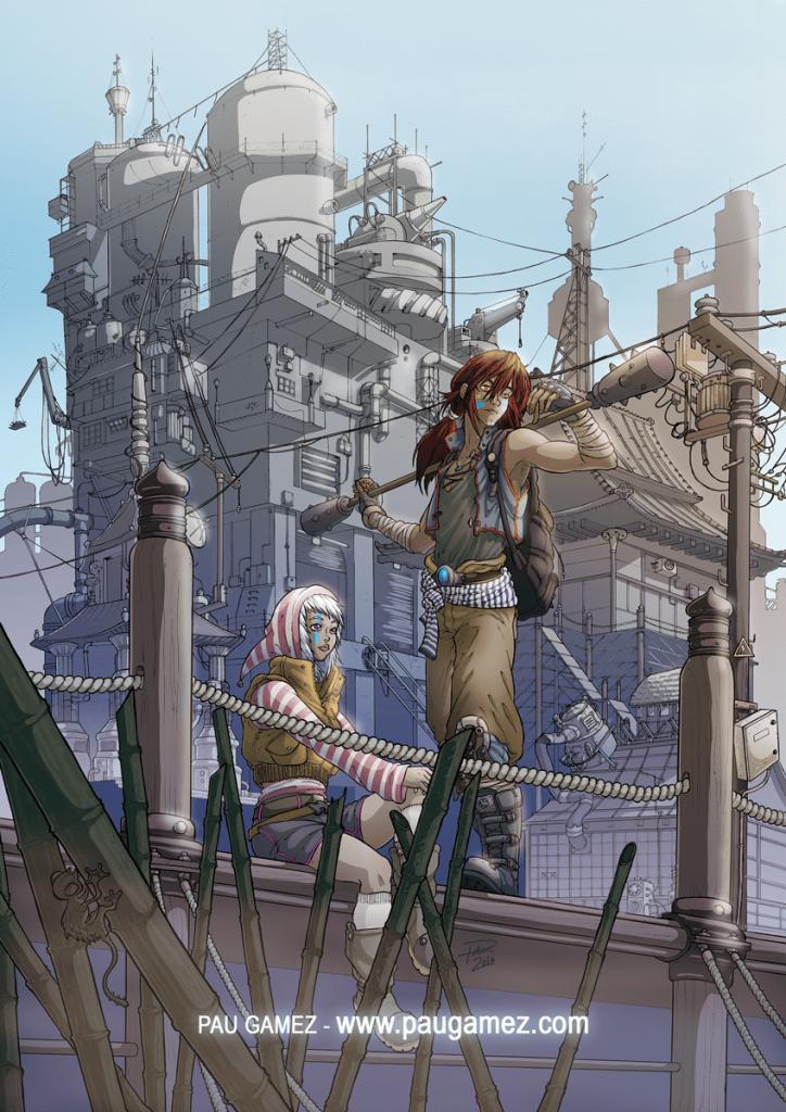 ilustración Nuevos Horizontes - by Pau Gmez