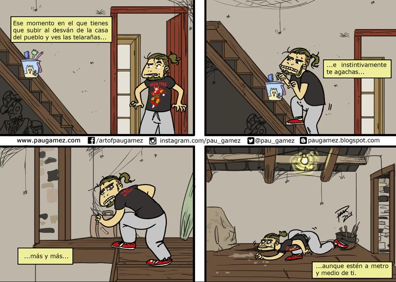 Tira cómica: las telarañas - by Pau Gámez