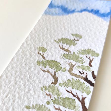 watercolors bookmark matsu by paugamez