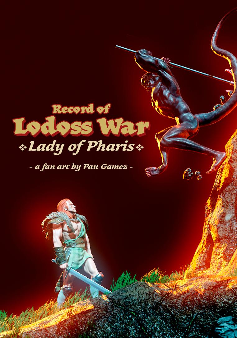 Record of Lodoss War - Lady of Pharis fan art cover